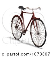 Clipart 3d Rusty Old Bicycle 7 Royalty Free CGI Illustration