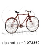 Clipart 3d Rusty Old Bicycle 2 Royalty Free CGI Illustration