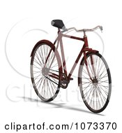 Clipart 3d Rusty Old Bicycle 3 Royalty Free CGI Illustration