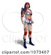 Clipart 3d Super Woman In An American Costume Royalty Free CGI Illustration by Ralf61