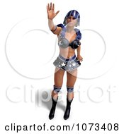 Clipart 3d Super Woman In A Blue Costume 5 Royalty Free CGI Illustration by Ralf61
