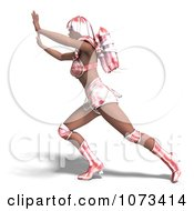 Clipart 3d Pushing Super Woman With A Jet Pack In A Pink Costume Royalty Free CGI Illustration by Ralf61