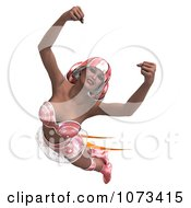 Clipart 3d Super Woman Flying With A Jet Pack In A Pink Costume 1 Royalty Free CGI Illustration by Ralf61