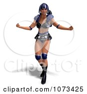 Clipart 3d Super Woman In A Blue Costume 1 Royalty Free CGI Illustration by Ralf61