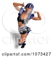 Clipart 3d Super Woman In A Blue Costume 3 Royalty Free CGI Illustration by Ralf61