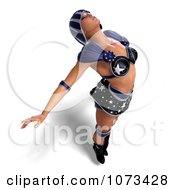 Clipart 3d Super Woman In A Blue Costume 4 Royalty Free CGI Illustration by Ralf61