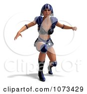 Clipart 3d Super Woman In A Blue Costume 6 Royalty Free CGI Illustration by Ralf61