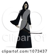 Clipart 3d Grim Reaper Of Death Holding A Scythe 2 Royalty Free CGI Illustration