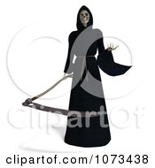 Clipart 3d Grim Reaper Of Death Holding A Scythe 3 Royalty Free CGI Illustration