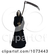 Clipart 3d Grim Reaper Of Death Holding A Scythe 4 Royalty Free CGI Illustration