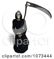 Clipart 3d Grim Reaper Of Death Holding A Scythe 5 Royalty Free CGI Illustration