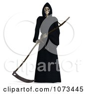 Clipart 3d Grim Reaper Of Death Holding A Scythe 6 Royalty Free CGI Illustration