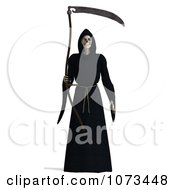 Clipart 3d Grim Reaper Of Death Holding A Scythe 1 Royalty Free CGI Illustration