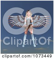 Clipart 3d Female Guardian Angel Holding A Sword 2 Royalty Free CGI Illustration by Ralf61