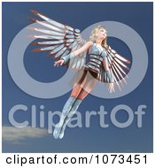Clipart 3d Female Guardian Angel Flying Royalty Free CGI Illustration by Ralf61