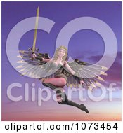 Clipart 3d Female Guardian Angel Holding A Sword 5 Royalty Free CGI Illustration by Ralf61