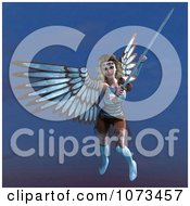 Clipart 3d Female Guardian Angel Holding A Sword 4 Royalty Free CGI Illustration by Ralf61