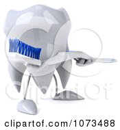 Clipart 3d Dental Tooth Carrying A Toothbrush Royalty Free CGI Illustration