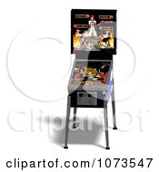 Clipart 3d Black Pinball Arcade Machine 1 Royalty Free CGI Illustration by Ralf61