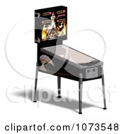 Clipart 3d Black Pinball Arcade Machine 2 Royalty Free CGI Illustration by Ralf61