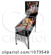 Clipart 3d Black Pinball Arcade Machine 3 Royalty Free CGI Illustration by Ralf61