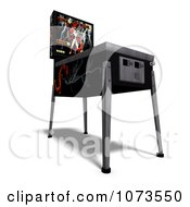 Clipart 3d Black Pinball Arcade Machine 4 Royalty Free CGI Illustration by Ralf61