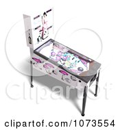Clipart 3d White Pinball Arcade Game Machine 4 Royalty Free CGI Illustration