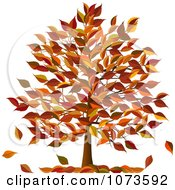 Clipart Autumn Tree With Fall Foliage Royalty Free Vector Illustration