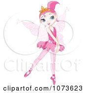 Clipart Pink Ballerina Fairy Girl On Her Toes Royalty Free Vector Illustration by Pushkin
