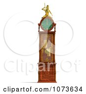 Clipart 3d Louis XV Grandfather Clock 1 Royalty Free CGI Illustration