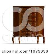 Clipart 3d Louis XV Armchair 1 Royalty Free CGI Illustration