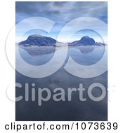 Clipart 3d Tranquil Scenic Waterscape Landscape 1 Royalty Free CGI Illustration
