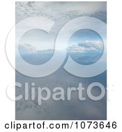 Clipart 3d Tranquil Scenic Waterscape Landscape 7 Royalty Free CGI Illustration