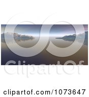 Clipart 3d Scenic Waterscape Landscape Panoramic 6 Royalty Free CGI Illustration