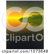 Clipart 3d Tranquil Scenic Waterscape Landscape 3 Royalty Free CGI Illustration