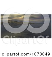 Clipart 3d Scenic Waterscape Landscape Panoramic 2 Royalty Free CGI Illustration