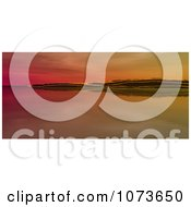 Clipart 3d Scenic Waterscape Landscape Panoramic 3 Royalty Free CGI Illustration