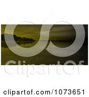 Clipart 3d Scenic Waterscape Landscape Panoramic 4 Royalty Free CGI Illustration