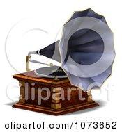 Clipart 3d Vintage Music Phonograph 1 Royalty Free CGI Illustration