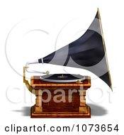 Clipart 3d Vintage Music Phonograph 3 Royalty Free CGI Illustration