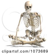 Clipart 3d Human Male Skeleton Sitting Royalty Free CGI Illustration
