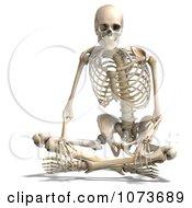 Clipart 3d Human Male Skeleton Sitting Royalty Free CGI Illustration