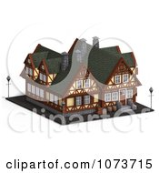 Clipart 3d Medieval Building 4 Royalty Free CGI Illustration by Ralf61
