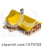Clipart 3d Medieval Cottage With A Straw Roof 3 Royalty Free CGI Illustration by Ralf61