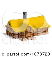 Clipart 3d Medieval Cottage With A Straw Roof 4 Royalty Free CGI Illustration by Ralf61