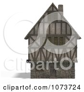 Clipart 3d Large Medieval House 1 Royalty Free CGI Illustration by Ralf61