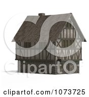 Clipart 3d Large Medieval House 2 Royalty Free CGI Illustration by Ralf61