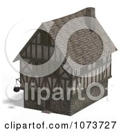 Clipart 3d Large Medieval House 4 Royalty Free CGI Illustration by Ralf61