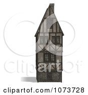 Clipart 3d Large Medieval House 5 Royalty Free CGI Illustration by Ralf61