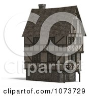 Clipart 3d Large Medieval House 6 Royalty Free CGI Illustration by Ralf61